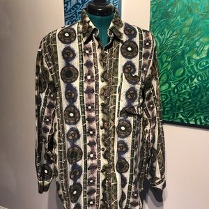 Tops - Silk multicolored blouse